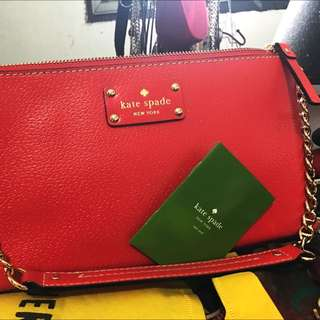 Authentic Kate Spade Purse With Gold Chain Strap