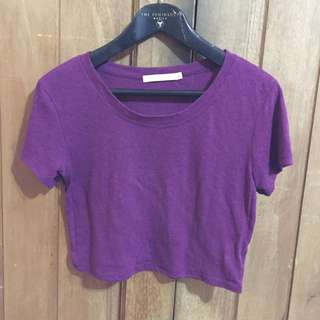 Violet Cropped Top Shirt