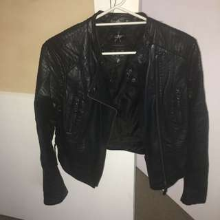 Faux Leather Jacket Size 14