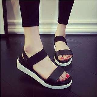 wedges platform wanita sendal heels flatform