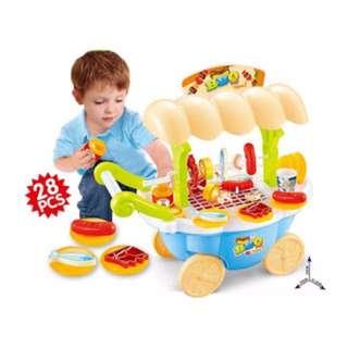 Kids Mini Sized BBQ Cart Playset
