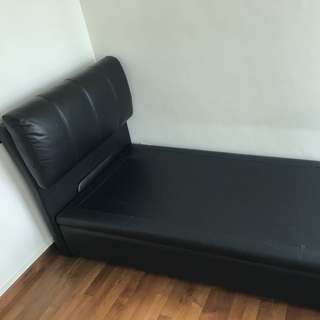 Single Bed Frame With Headboard And 2 Storage Space