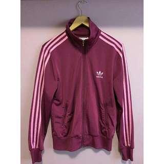 Deep Pink Adidas Zip Up Sweater