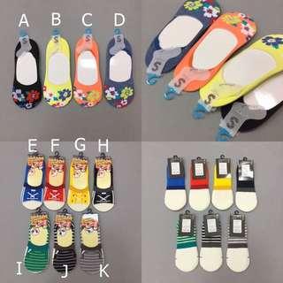 日本帶回 彩色 小花 鞋子 造型 短襪 防脫落 隱形襪