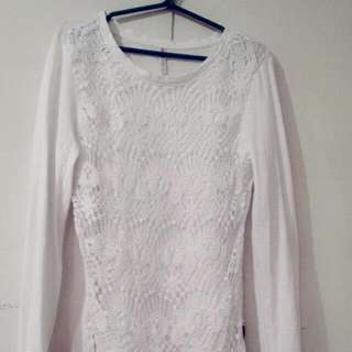 Long Sleeve Front Lace Top
