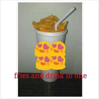 Fries And Drink In 1 Cup