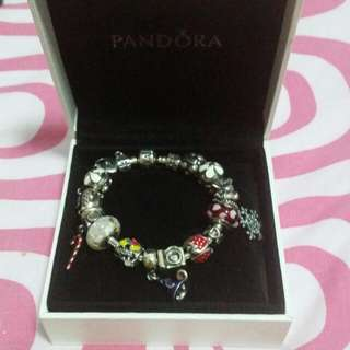 Pandora 17cm Bracelet With Charms(fast Deal $600)