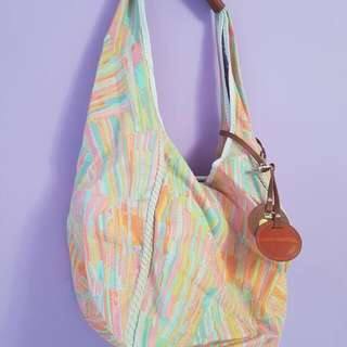 Juicy Couture Slouch Canvas Hobo Bag