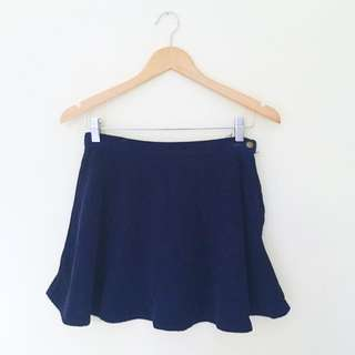 American Apparel Navy Corduroy Circle Skirt M