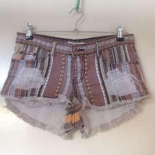 Aztec Denim Shorts