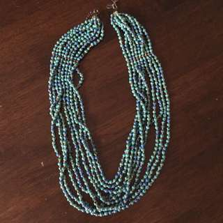 Lovisa Beaded Necklace Blue/green