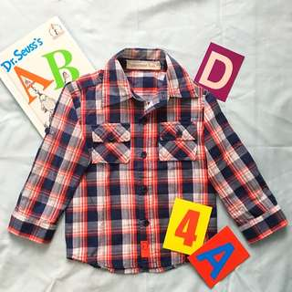 🌻🌻REPRICED 🌻🌻Peppermint kids gingham Botton Down For 2-3 yo