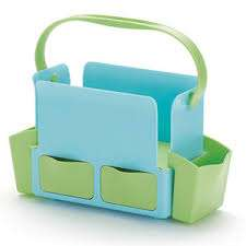 Skip Hop Toolbox Diaper Caddy in Sky Blue/Lime