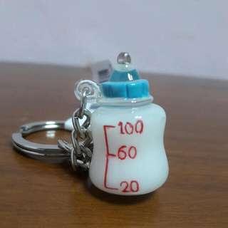 牛奶瓶吊飾鑰匙圈