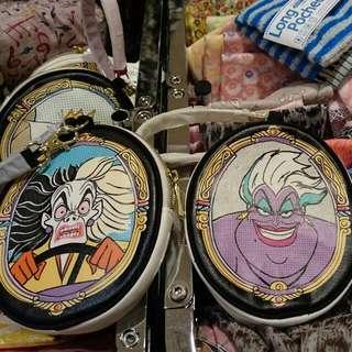 夏趴。日本東京百貨帶回 迪士尼【101忠狗/白雪公主】卡夾零錢包 吊飾