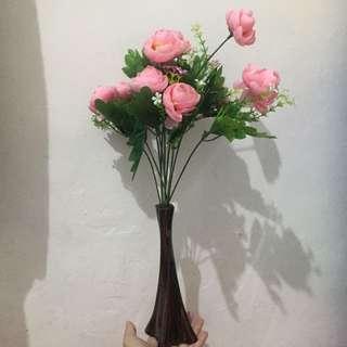 Pink Flower With vas
