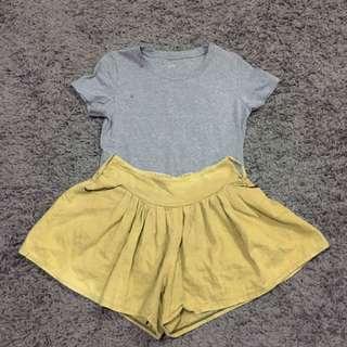 Uniqlo Shirt x Zara Basic Shorts