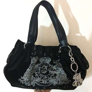 Juicy Couture Velour Handbag in Black 女裝黑色絨質手袋