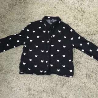 BNWT - Cat Crop Top from H&M