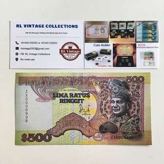 1986 500 Ringgit Malaysia Banknote