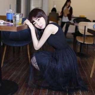 全新莫代爾網紗裙黑色