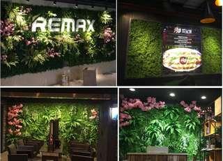 仿真植物墻草坪地毯綠植墻體假草皮陽臺草綠化裝飾綠色植物背景墻