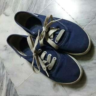深藍色 帆布鞋 小藍鞋