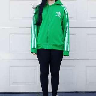 Green Adidas Originals Zip-up Hoodie