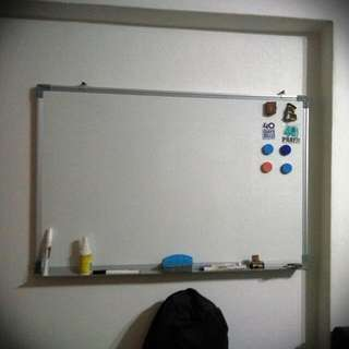 2 Whiteboards with Brand New Markers And Duster