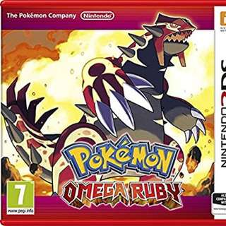 Pokemon Omega Ruby Red 3DS
