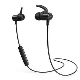 Anker SoundBuds Slim Sweatproof Bluetooth Earbuds w/ Magnetic Interface