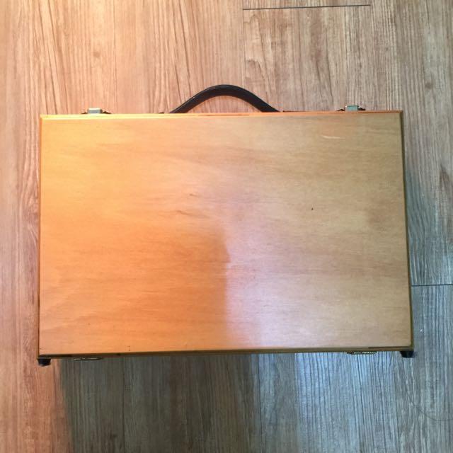 繪畫用具收納木箱(不含內容物