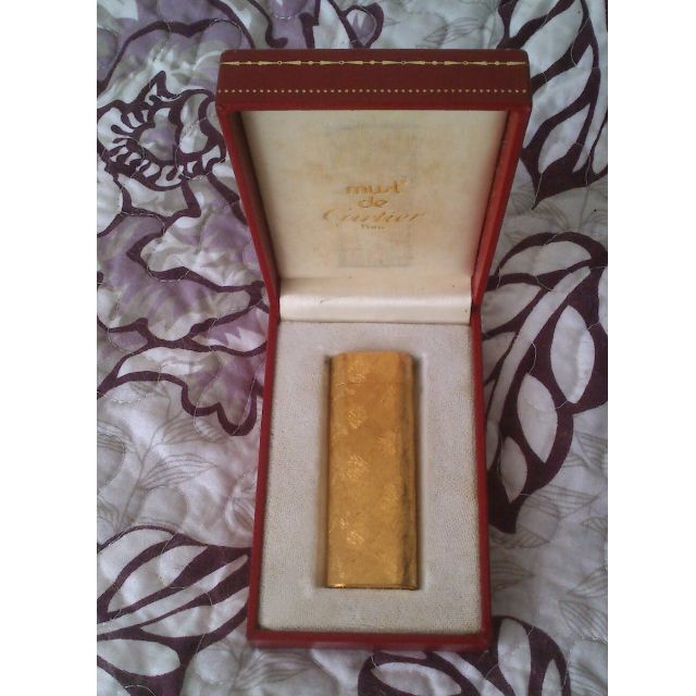 法國帶回 Must de Cartier Paris Vintage Lighter with Gold Plated Original