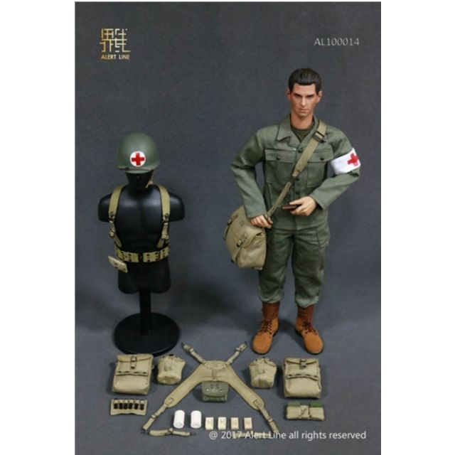 "Alert Line WWII US Army Medic Hacksaw Ridge 12/"" Head Sculpt loose 1//6th scale"