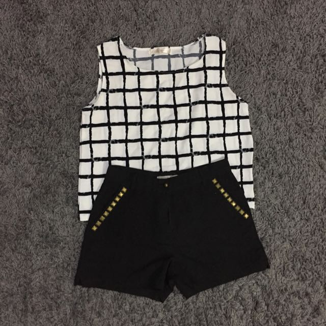 Apartment8 HW Shorts & Semi Crop Top