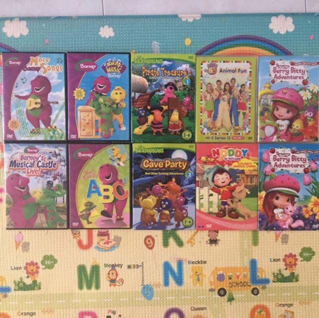 Assorted DVD - Barney, Backyardigans, Hi5, Strawberry Shortcake, Etc