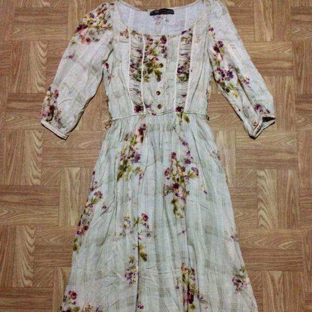 Bnwot Zara Trf Floral Maxi Dress