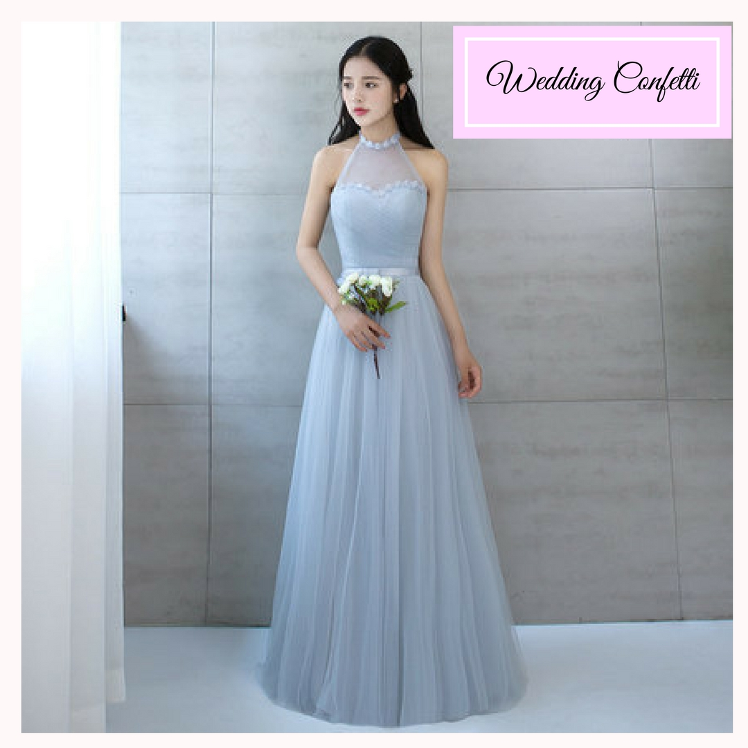 Brand New* BNWT Bridesmaid Sisters Grey/Blue/Red/Champagne Long ...