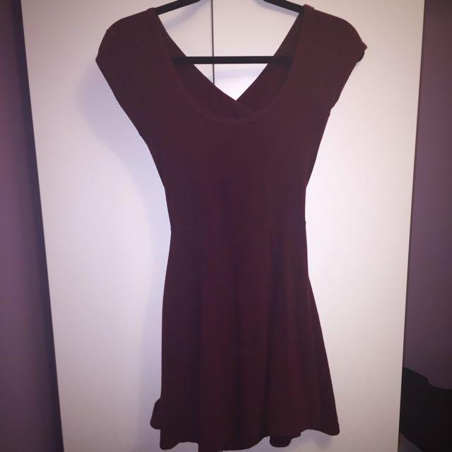 Brandy Burgundy Dress