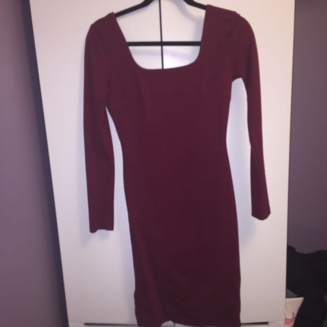 Burgundy Dress From M For Mendo