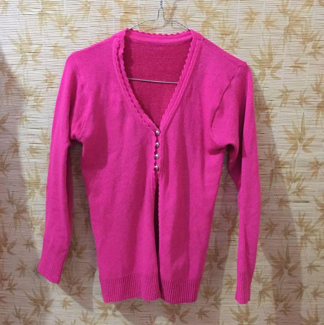 Cardigan Rajut Pink