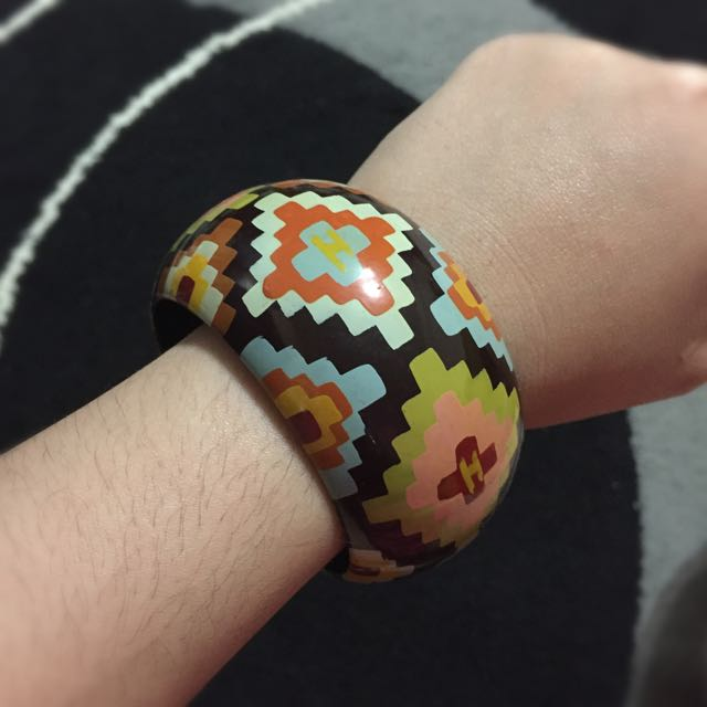 Colourful Wooden Bangle