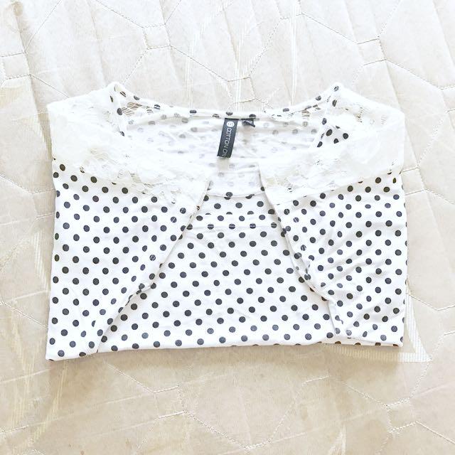 cotton on polka dots croptop