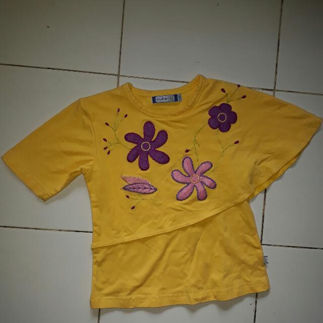 Cute Tshirt Flower Anak