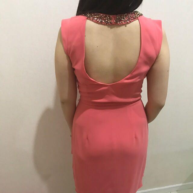 Dress Branded Forever New Peach Original Asli