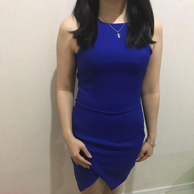 Dress Wanita Import Bodycon Biru Dongker