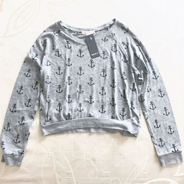f21 forever21 anchor sweater