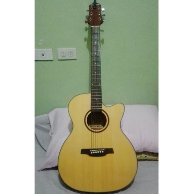Fernando Acoustic Guitar Wtc 24 W Cutaway Music Media Music Instruments On Carousell