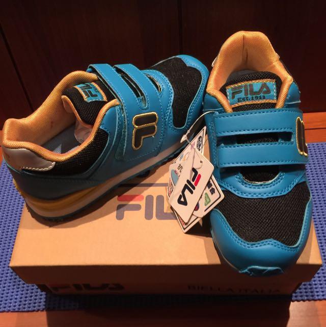 FILA中童童鞋(藍黑配色)