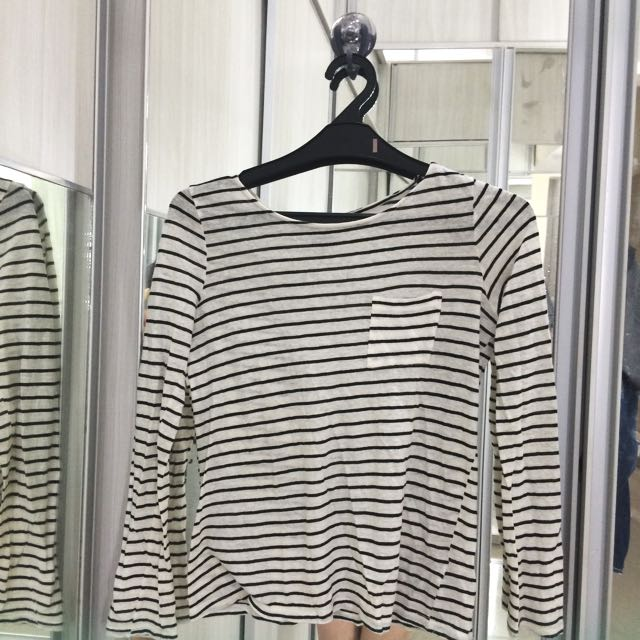 Forever21 Stripes Long Sleeve Top